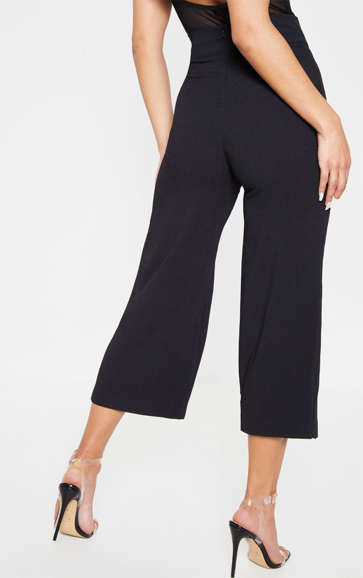 Tazmin Black High Waisted Culottes 4
