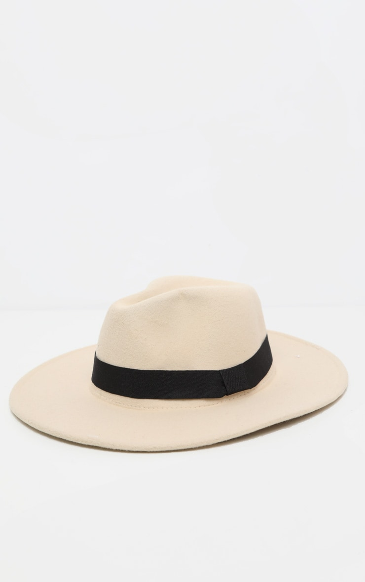 White Basic Fedora Hat 3