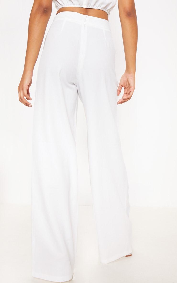 Pantalon ample blanc très évasé 3