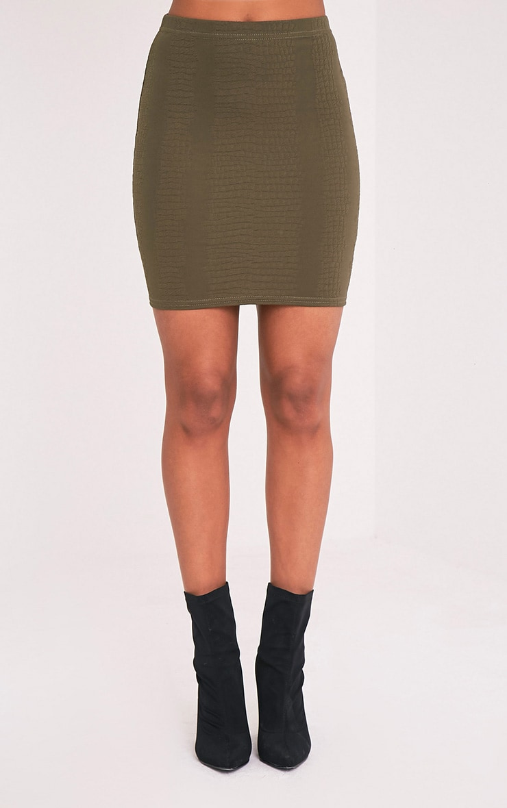Basic Taupe Midi Skirt 1