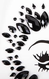 SHRINE Halloween Black Diamond Face Jewel 4