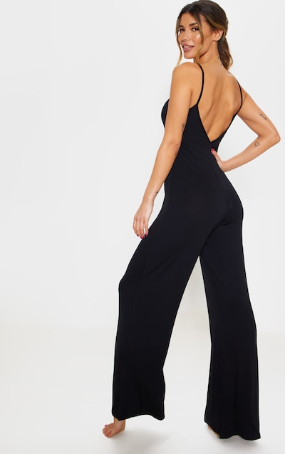 Black Bedtime Jumpsuit