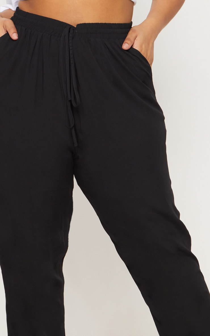 Plus Black Casual Pants 5