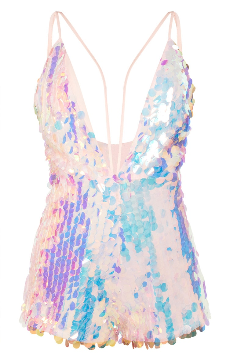 Pink Sequin Harness Playsuit 3