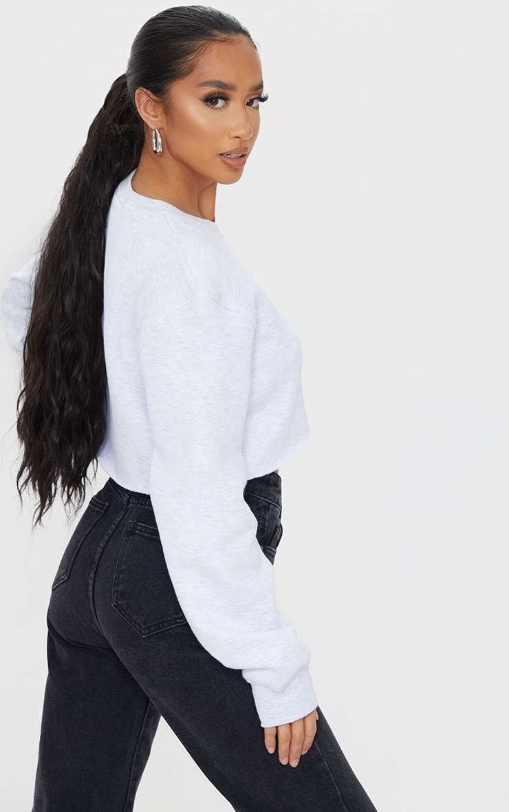 Petite Ash Grey Ultimate Cropped Sweater 2