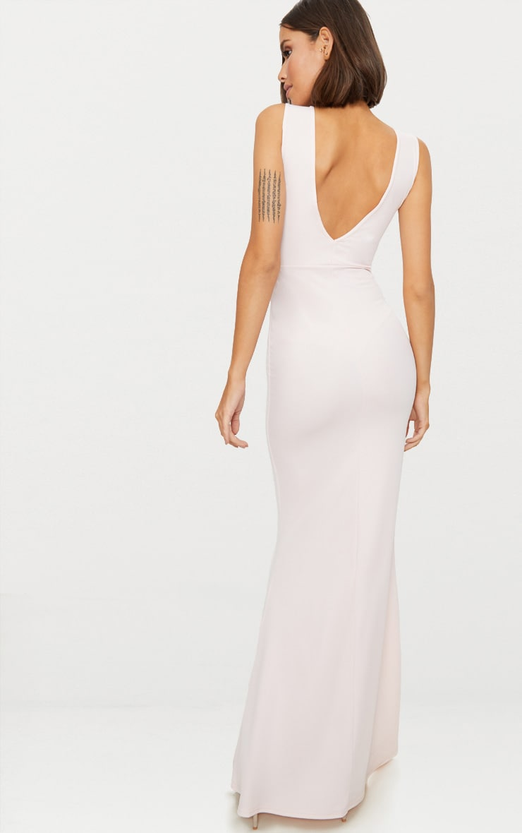 Nude V Bar Plunge Maxi Dress 2