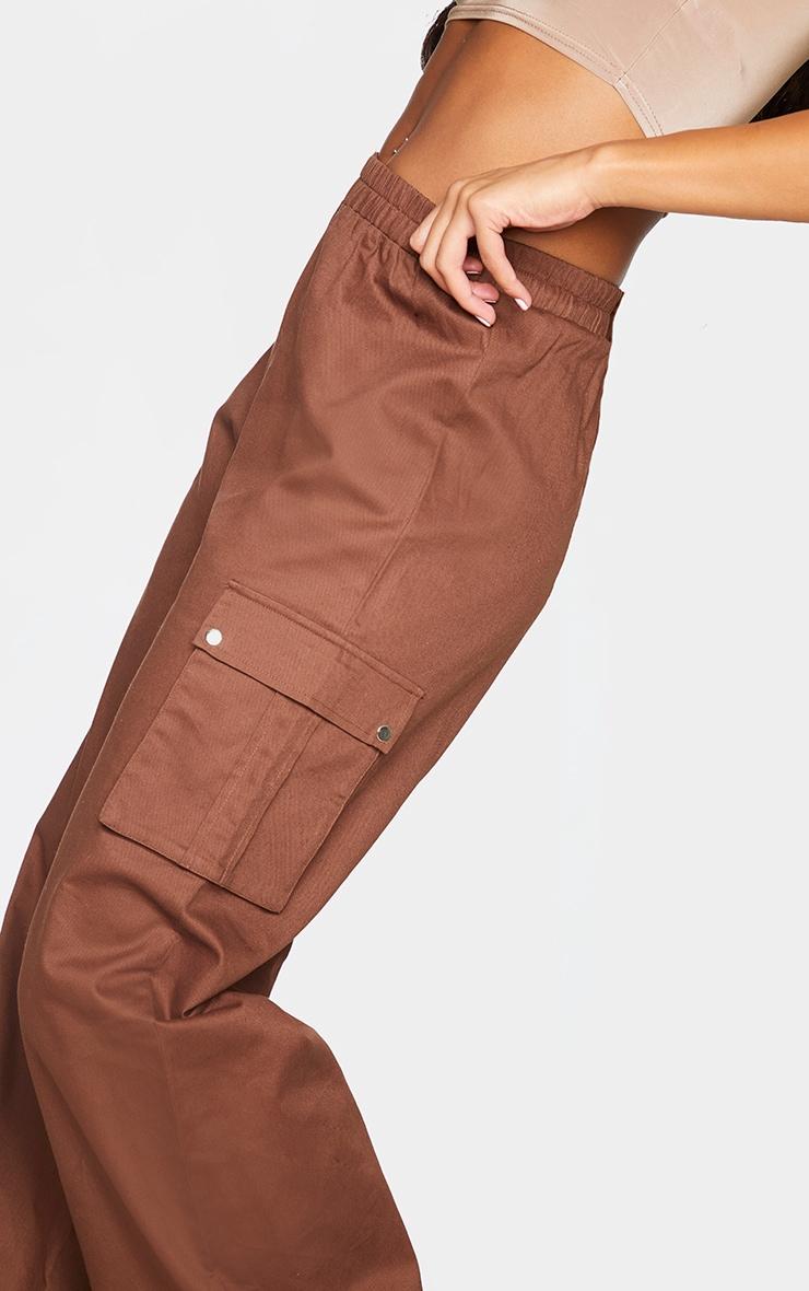 Chocolate Wide Leg Cargo Pants 4