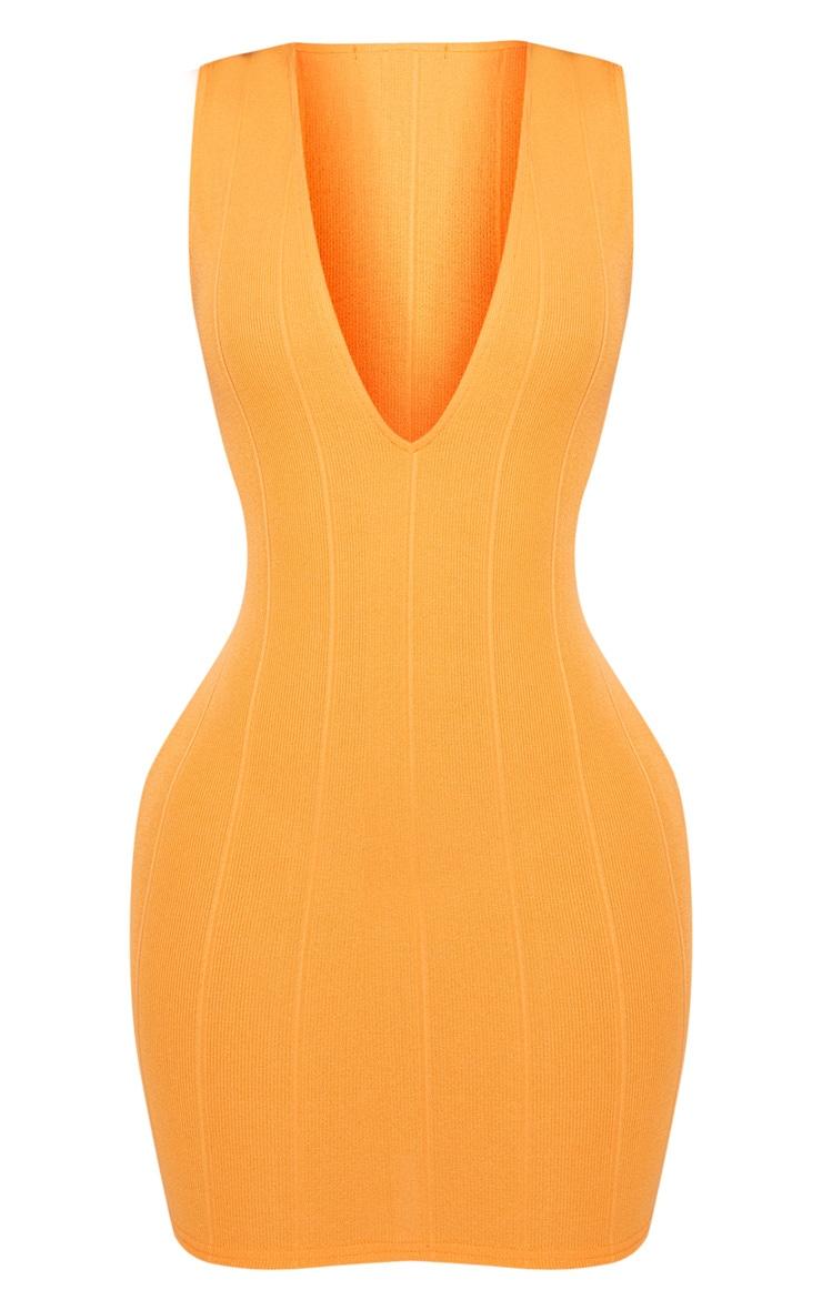 Shape Tangerine Bandage Plunge Bodycon Dress 3