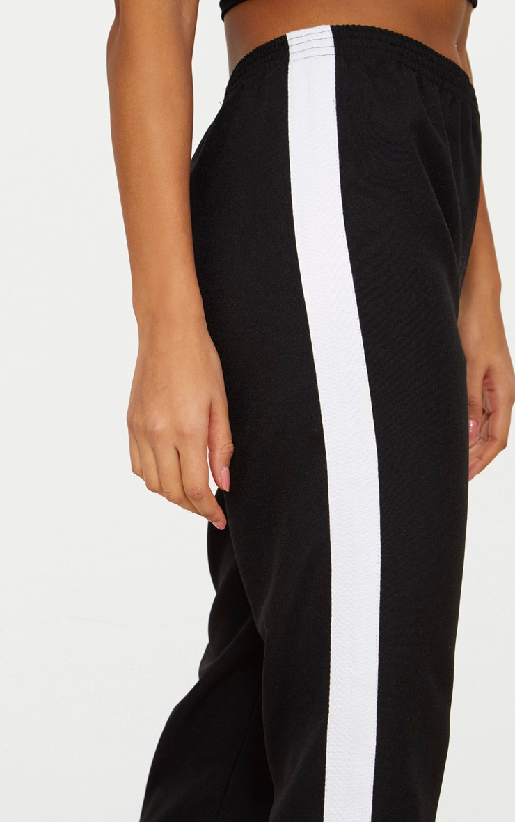 Black Tailored Side Stripe Cigarette Pants 5