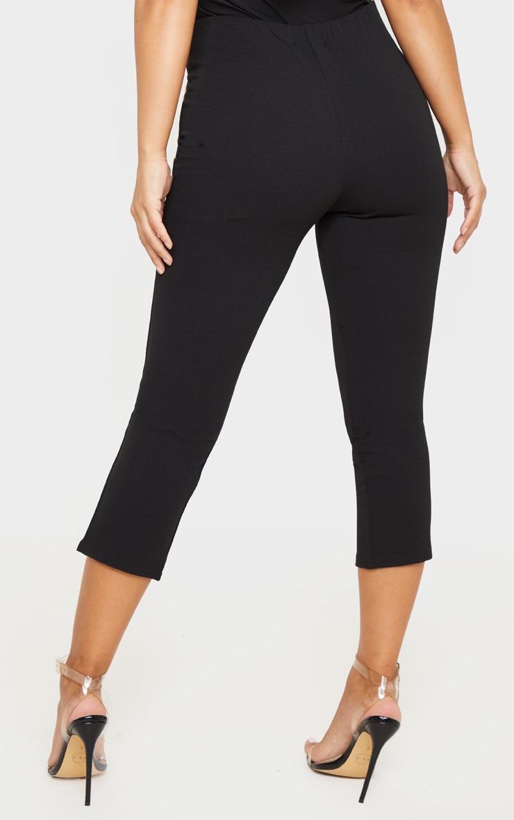 Petite Black Split Front Cropped Legging 4