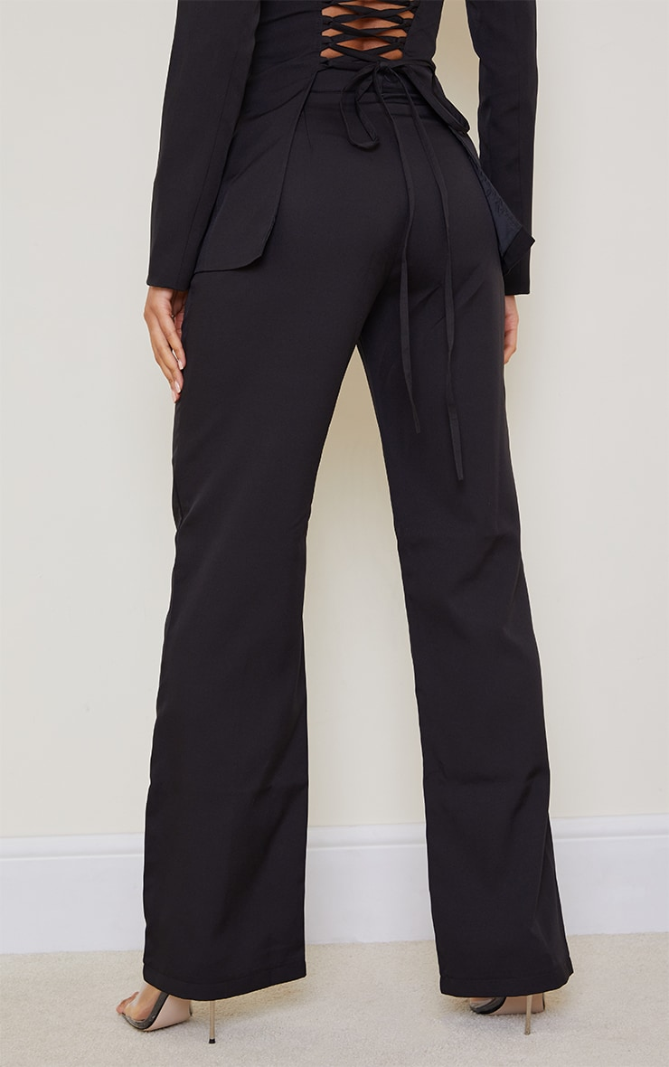 Black Wide Leg High Waist Pants 3