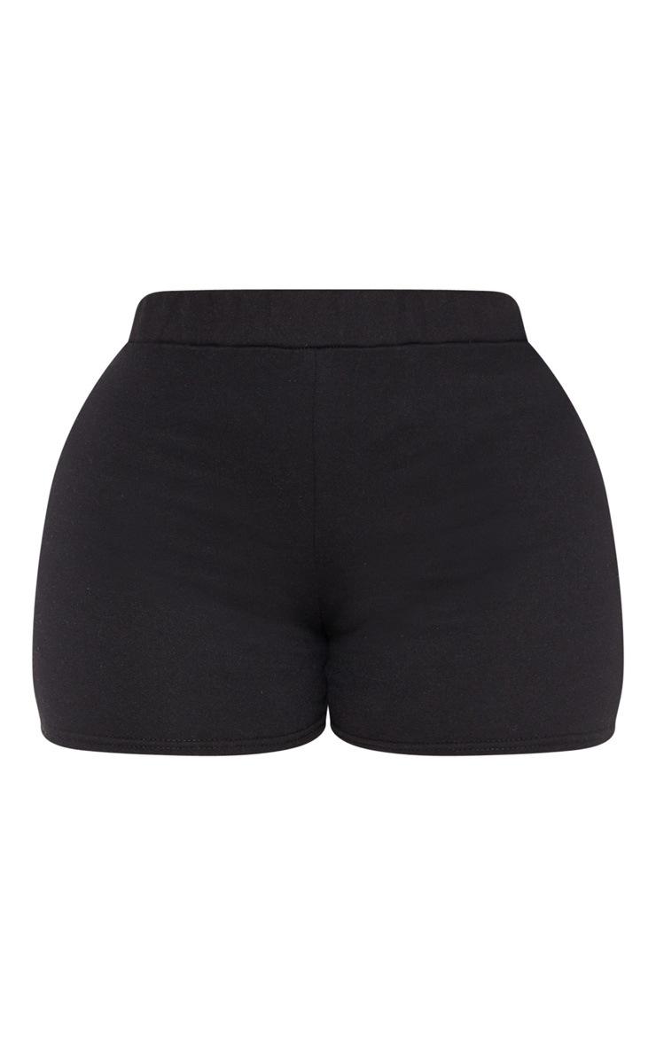 Shape Black High Waisted Sweat Shorts 3