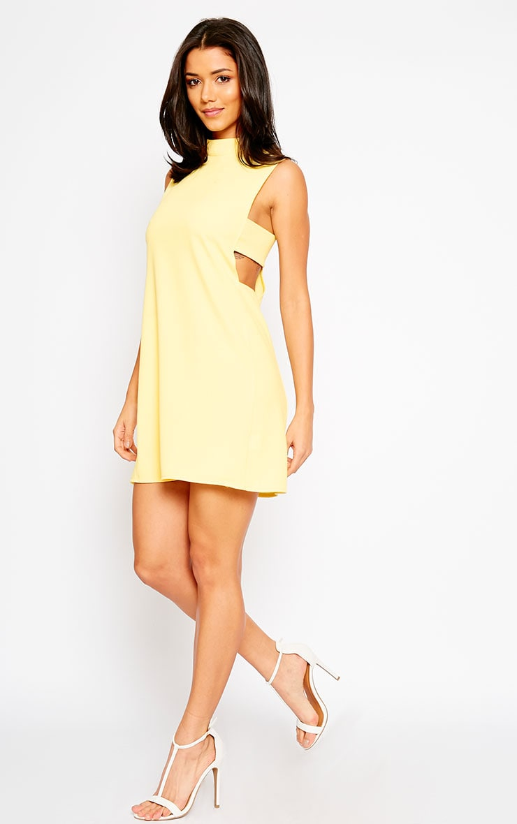 Rina Yellow Cut Out Tabard Dress 3