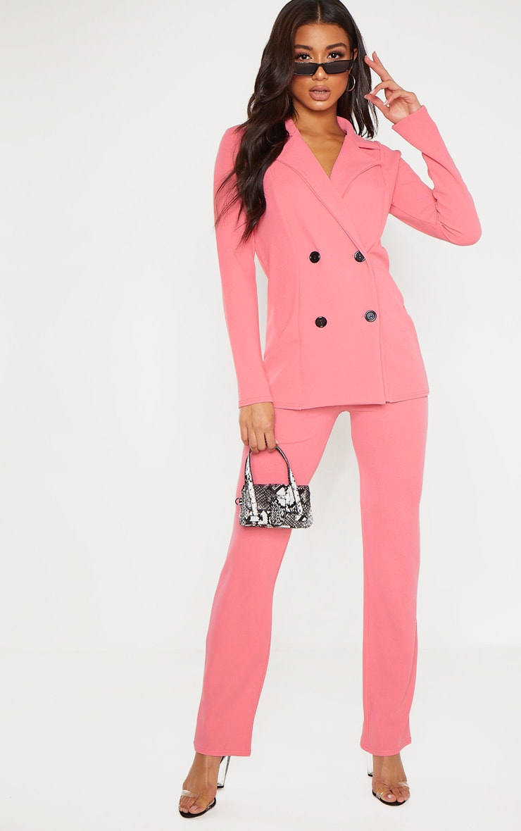 Coral Double Breasted Blazer  4