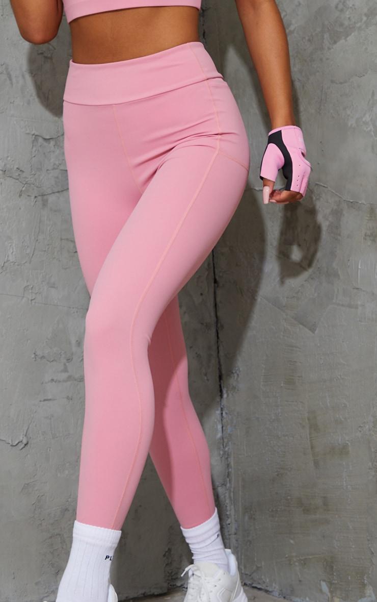 Pink Super High Waist Pocket Detail Gym Leggings 4