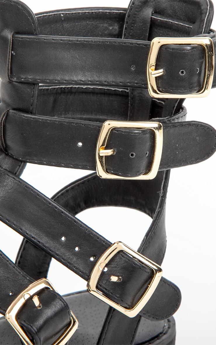 Nadia Black Gladiator Sandals 4