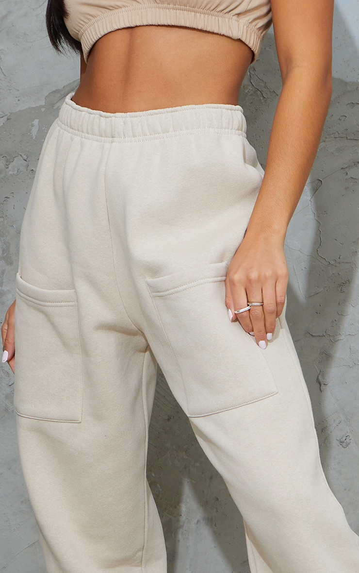 Petite Stone Pocket Thigh Casual Joggers 4