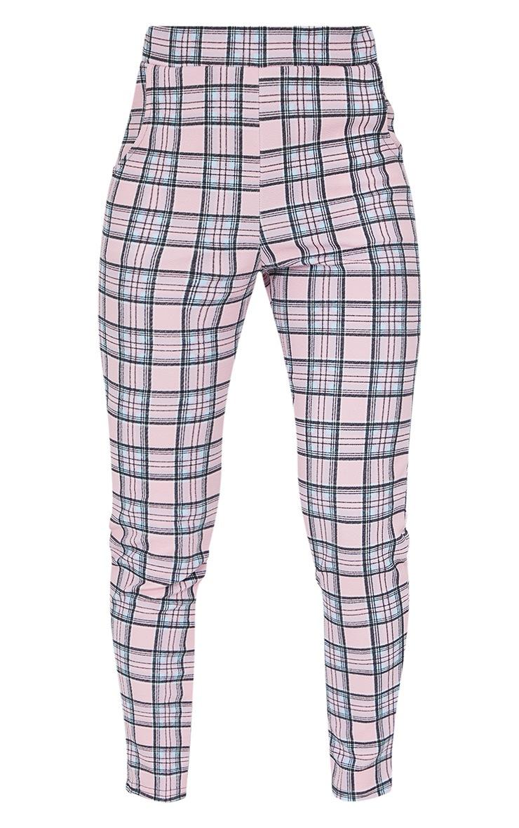 Pink Check Skinny Pants 5