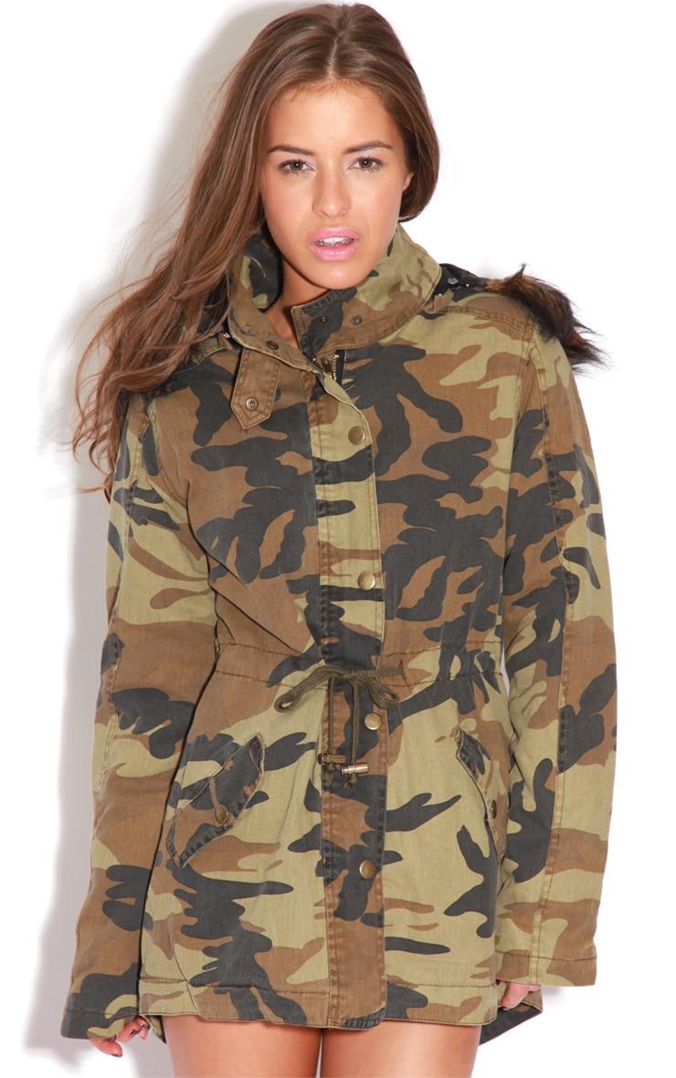 Nicola Camouflage Parka Coat 5