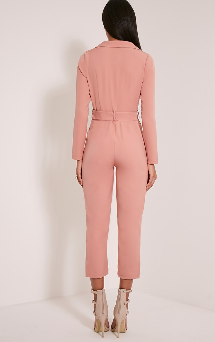 Mell Rose Wrap Buckle Crop Jumpsuit 2