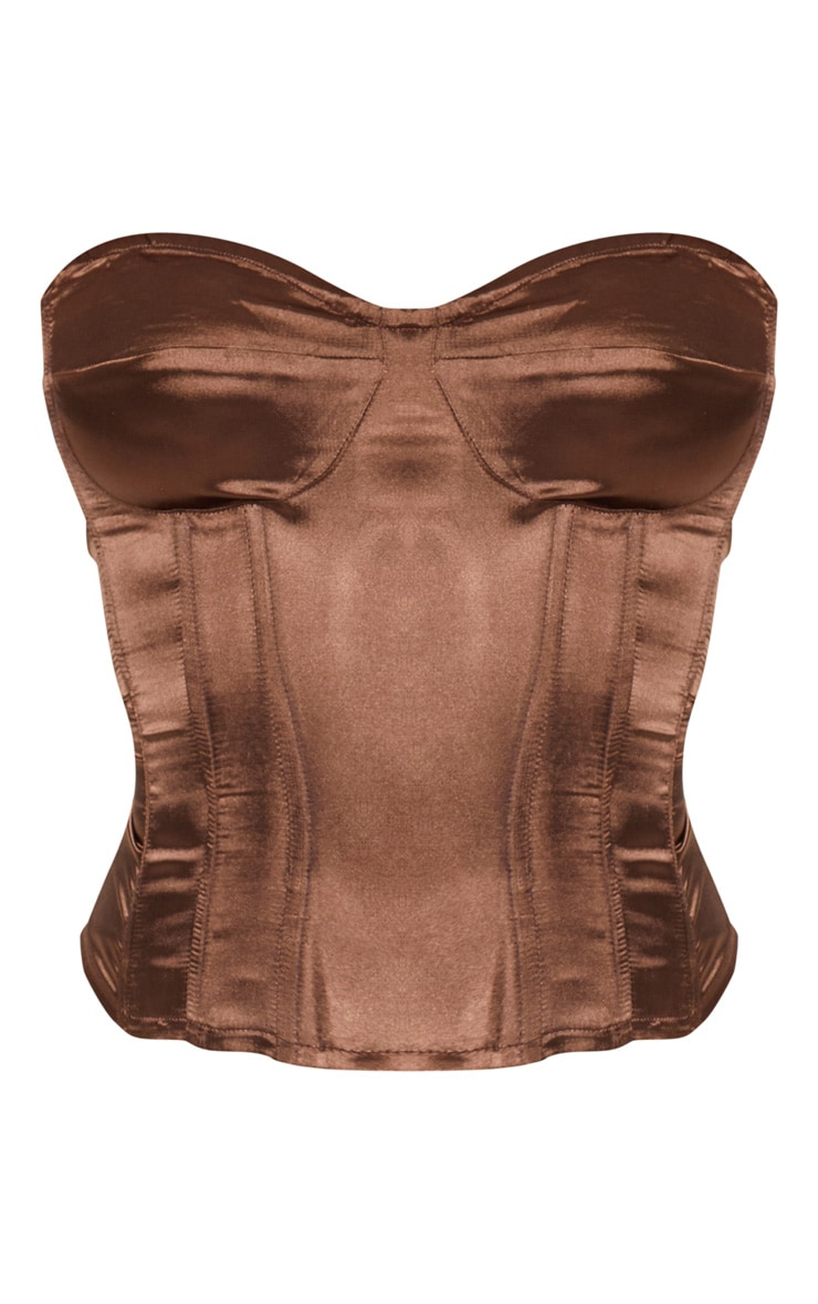 Chocolate Satin Corset 3