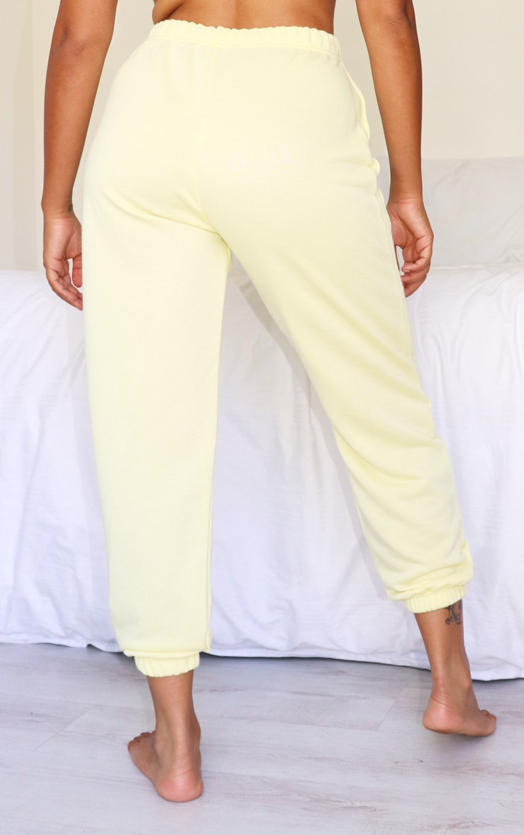 Petite Yellow Lemon Basic Cuffed Hem Jogger 3