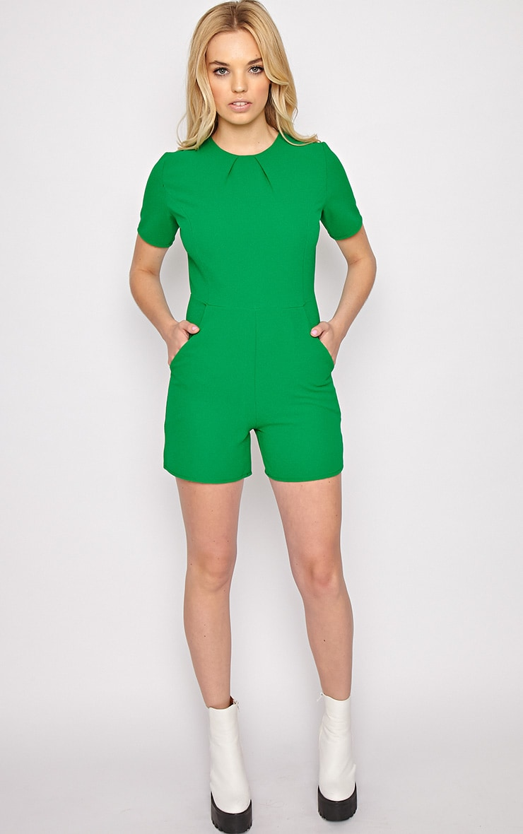 Isabelle Green Playsuit 3