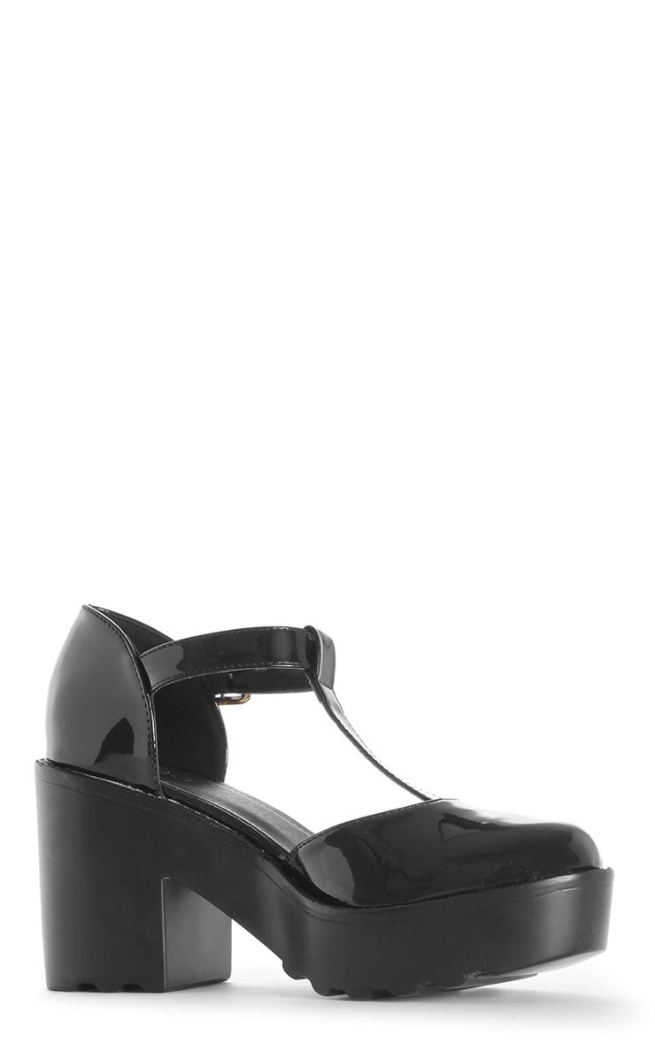 Julia Black T Bar Sandals 2