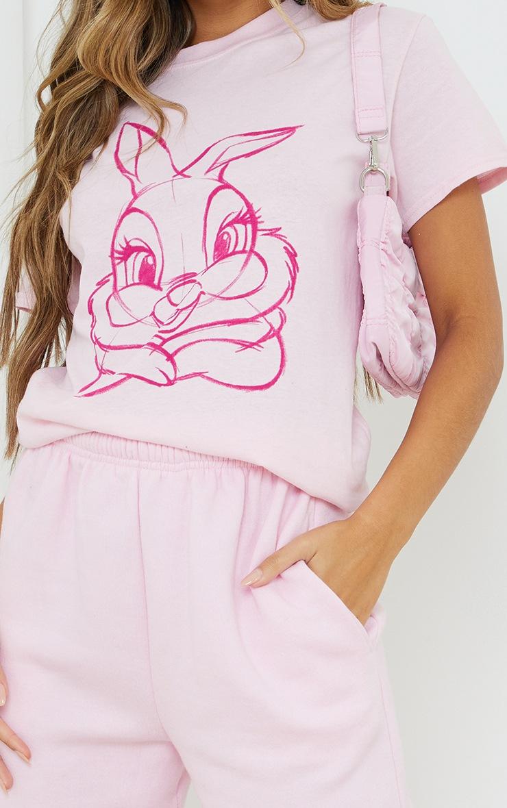 Baby Pink Disney Thumper Printed T Shirt 4