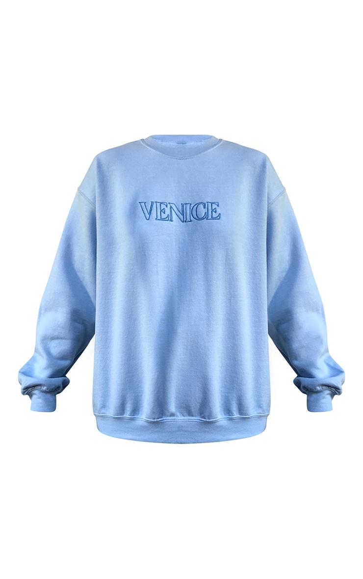 Blue Venice Embroidered Sweatshirt 5