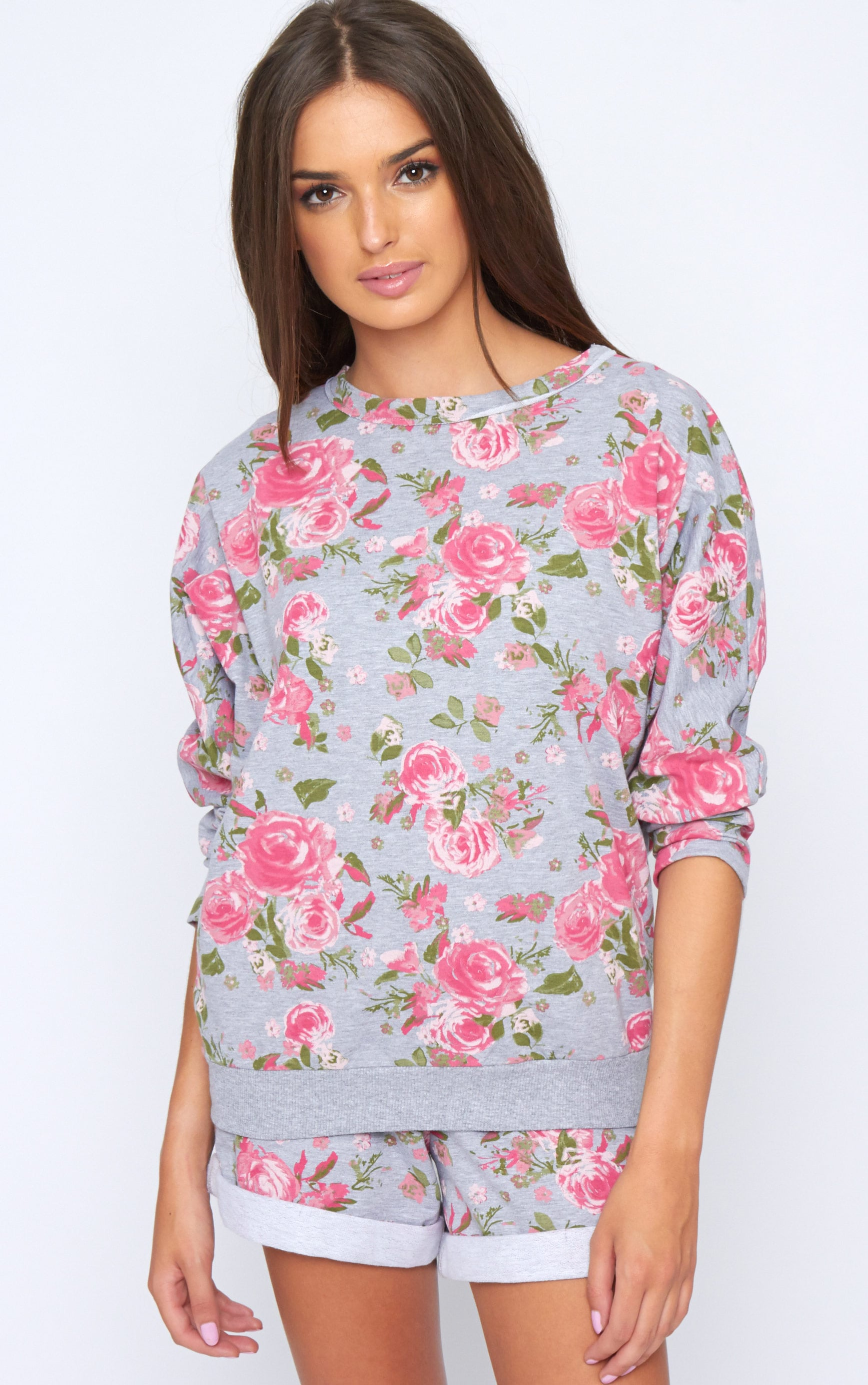 Aria Grey Floral Sweater 3
