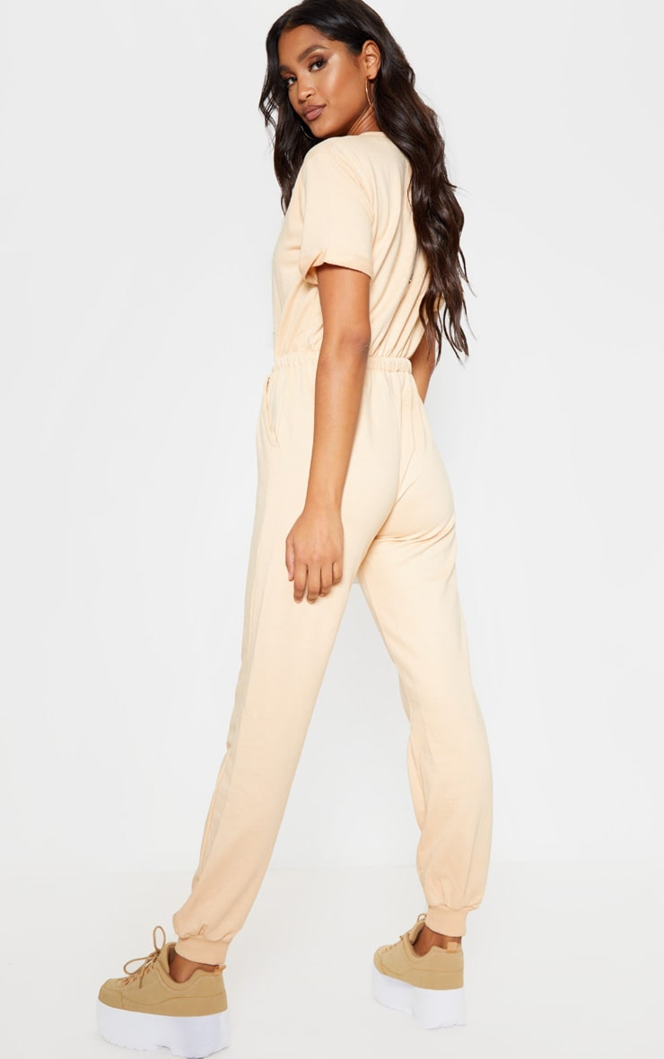 Fawn Short Sleeve Sweat Jumpsuit 2