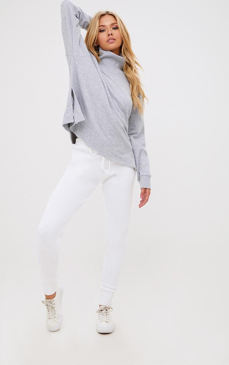 Grey High Neck Oversized Longsleeve Sweater 4