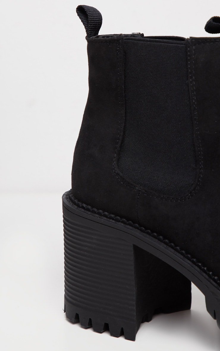 Black Micro Chunky Cleated Chelsea Ankle Boot 4