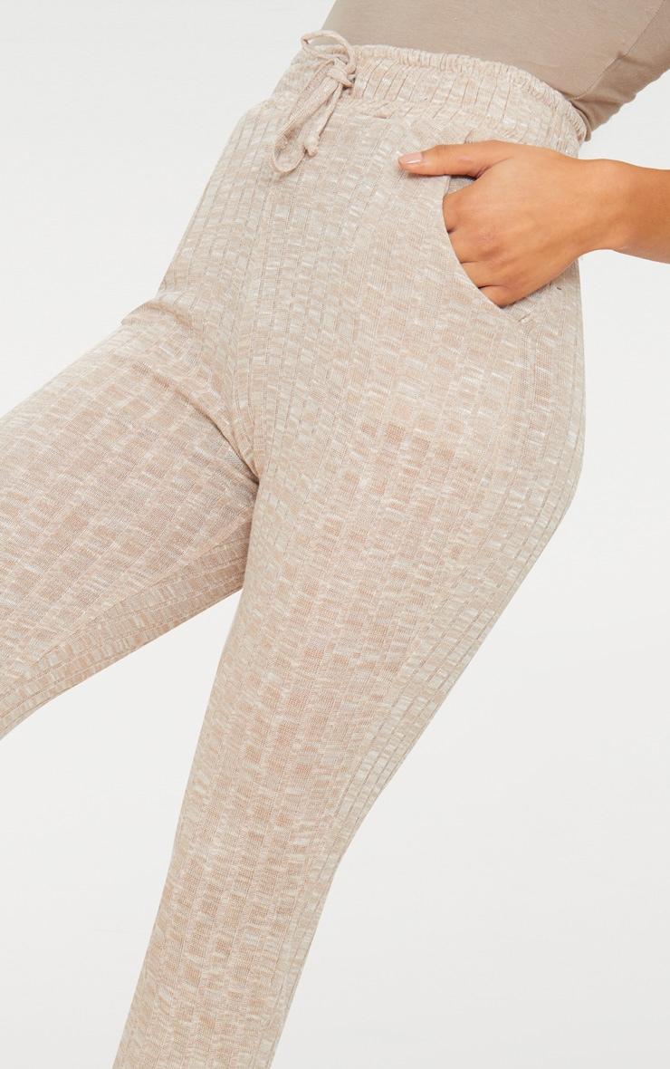 Pantalon de jogging en maille côtelée gris pierre 5