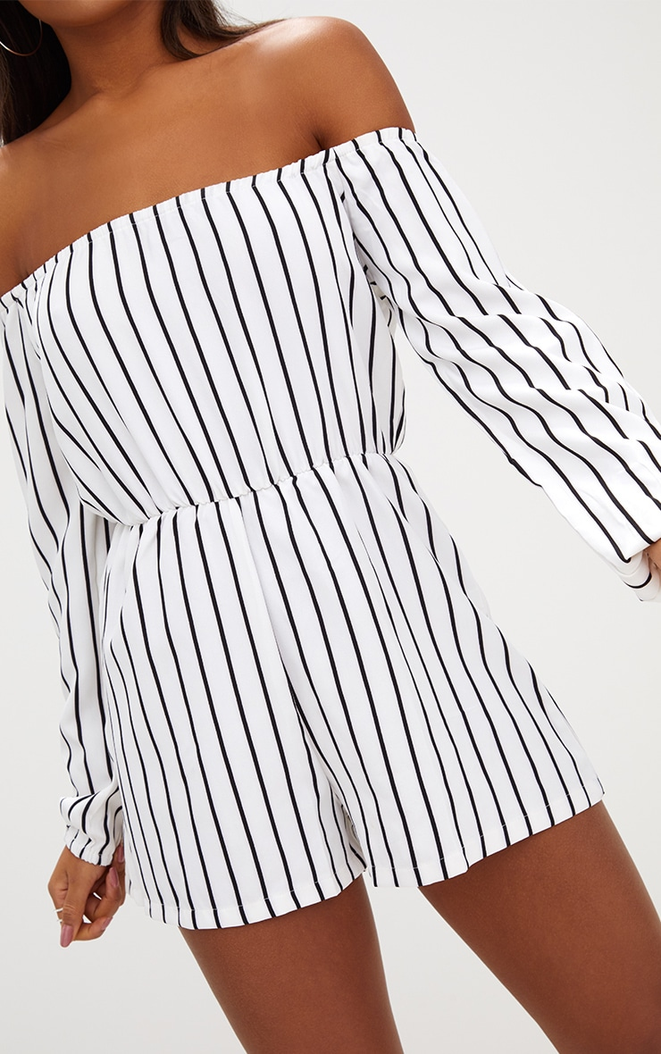 Kennie White Stripe Romper 5