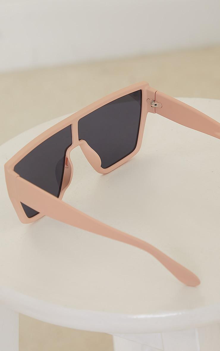 Nude Matte Oversized Squareframe Sunglasses 3