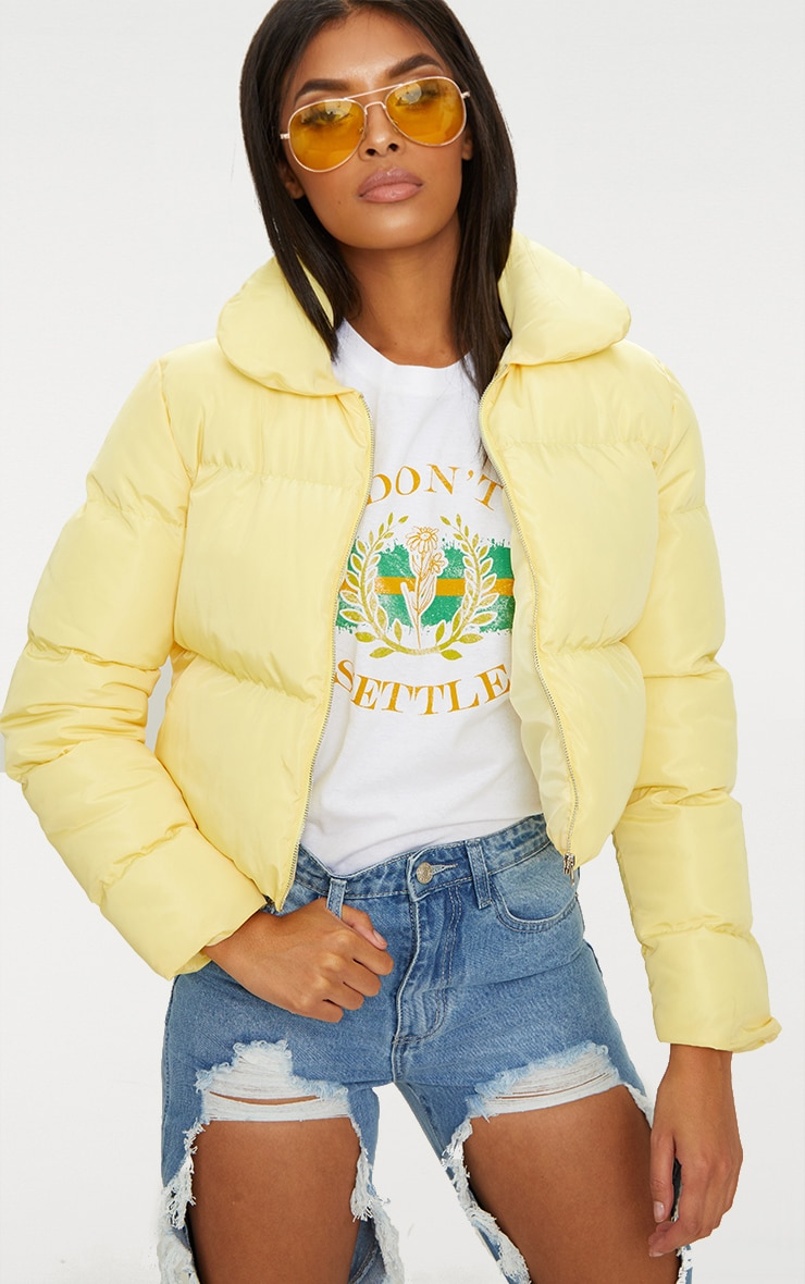 Lemon Cropped Puffer Jacket 1