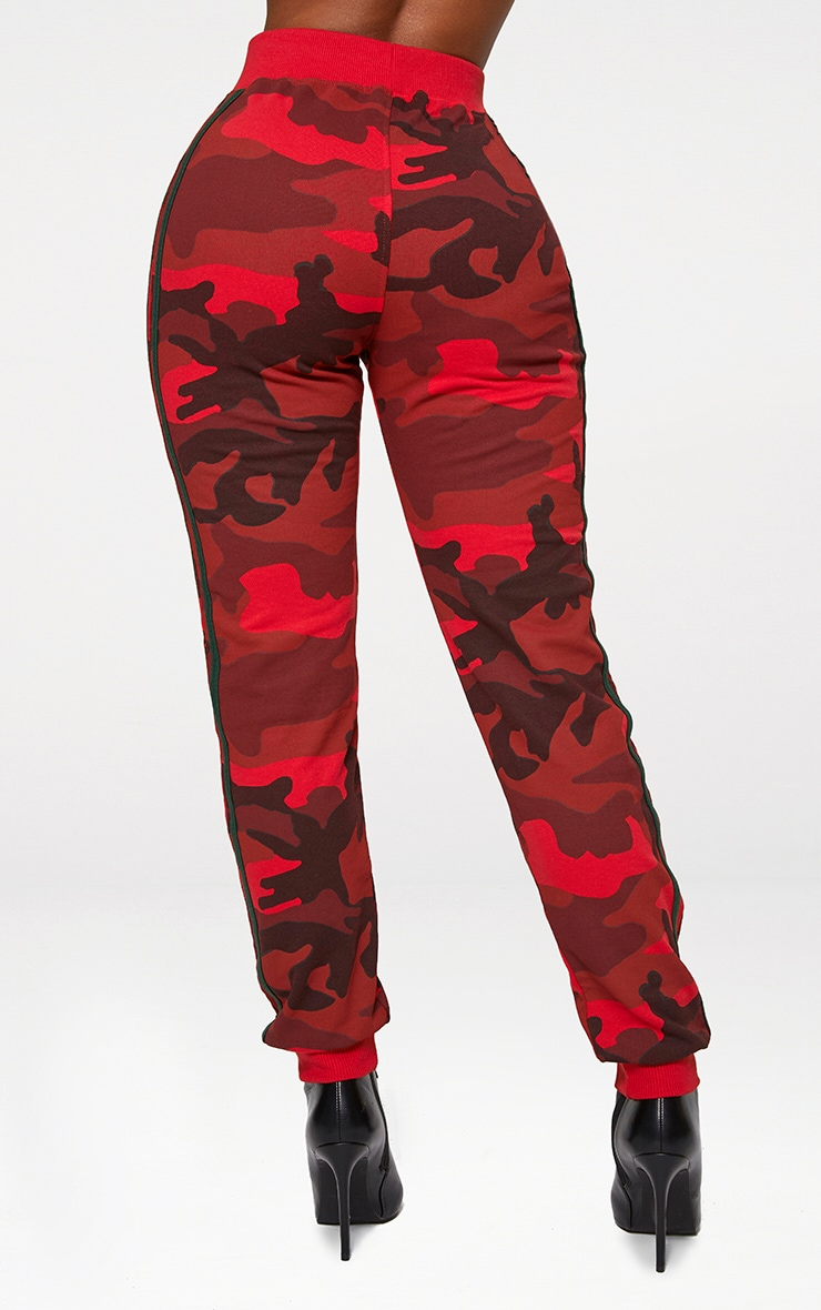 Shape Red Camo Side Stripe Joggers 3