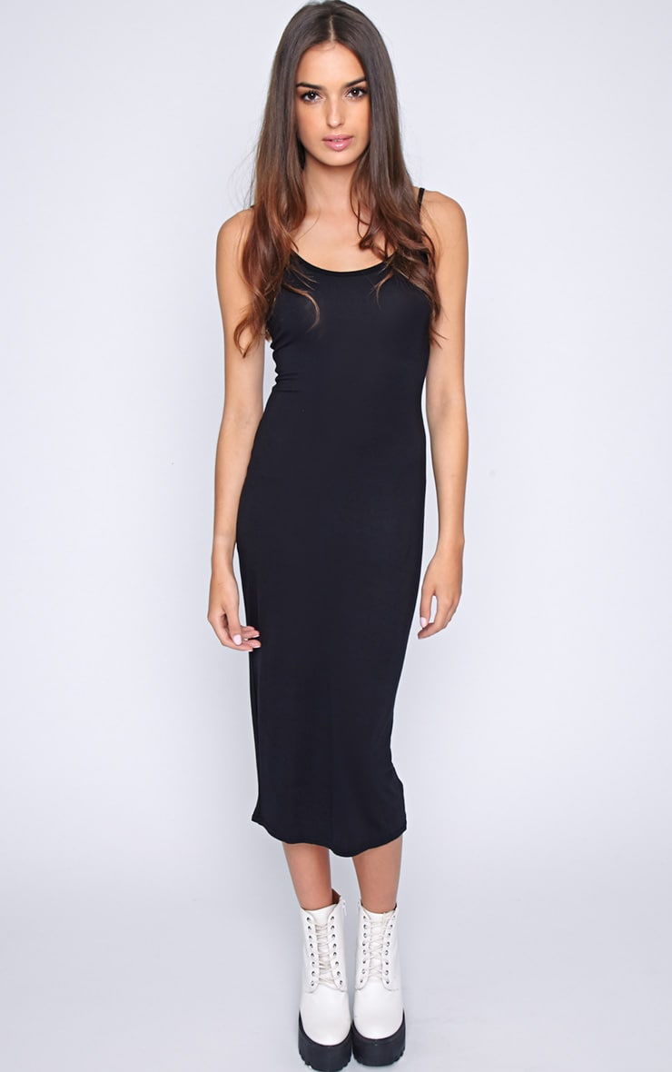 Madelyn Black Midi Vest Dress 3