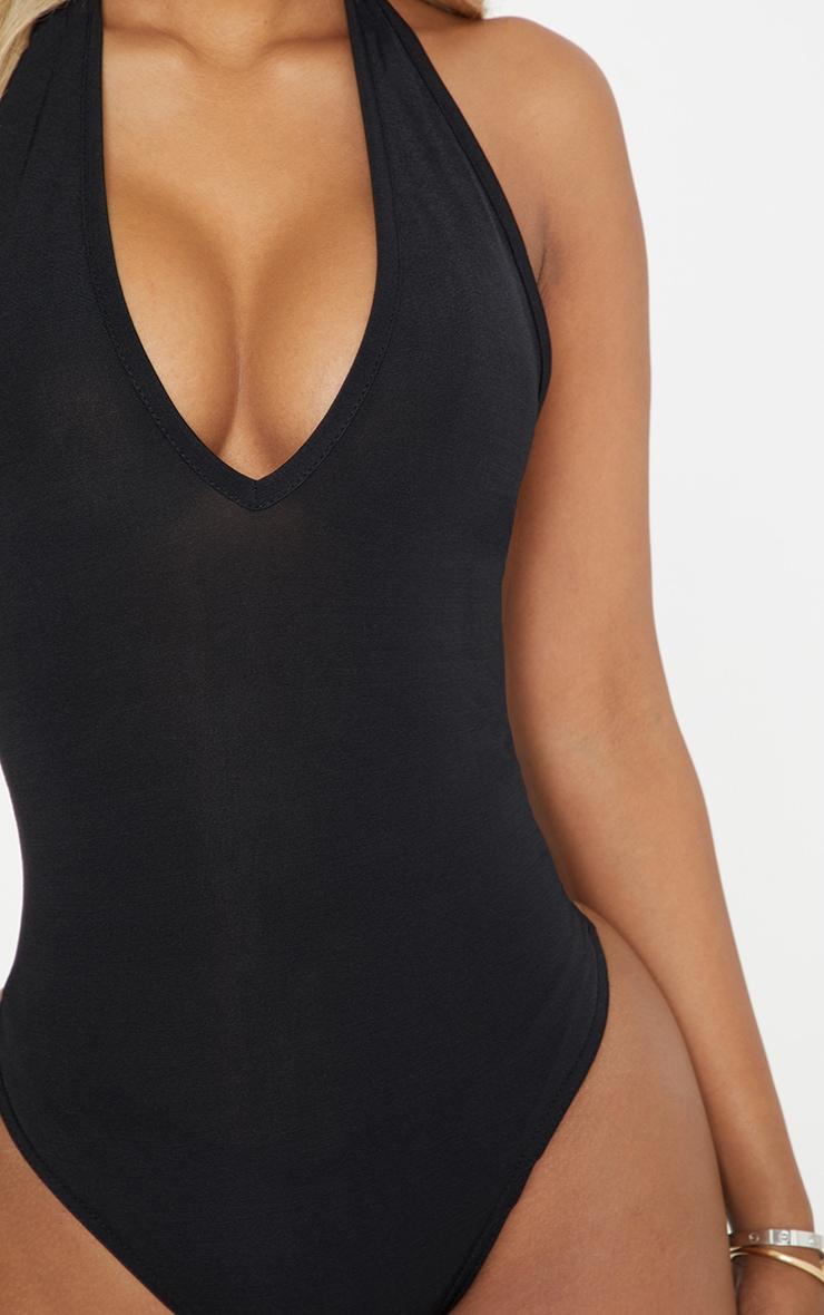 Shape Black Slinky Plunge Halterneck Bodysuit 6