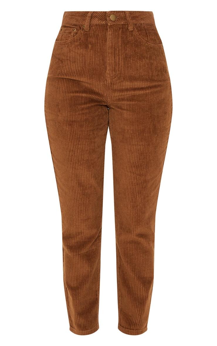Camel Jumbo Cord Mom Jeans 3