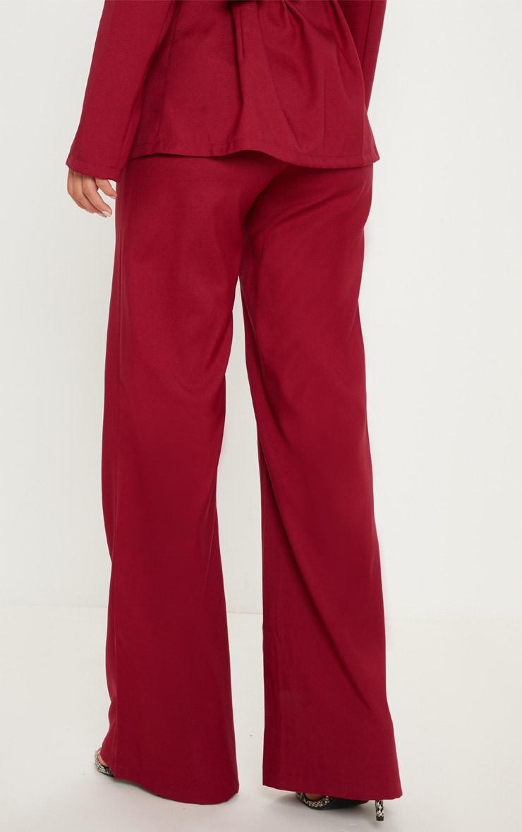 Pantalon ample bordeaux 4