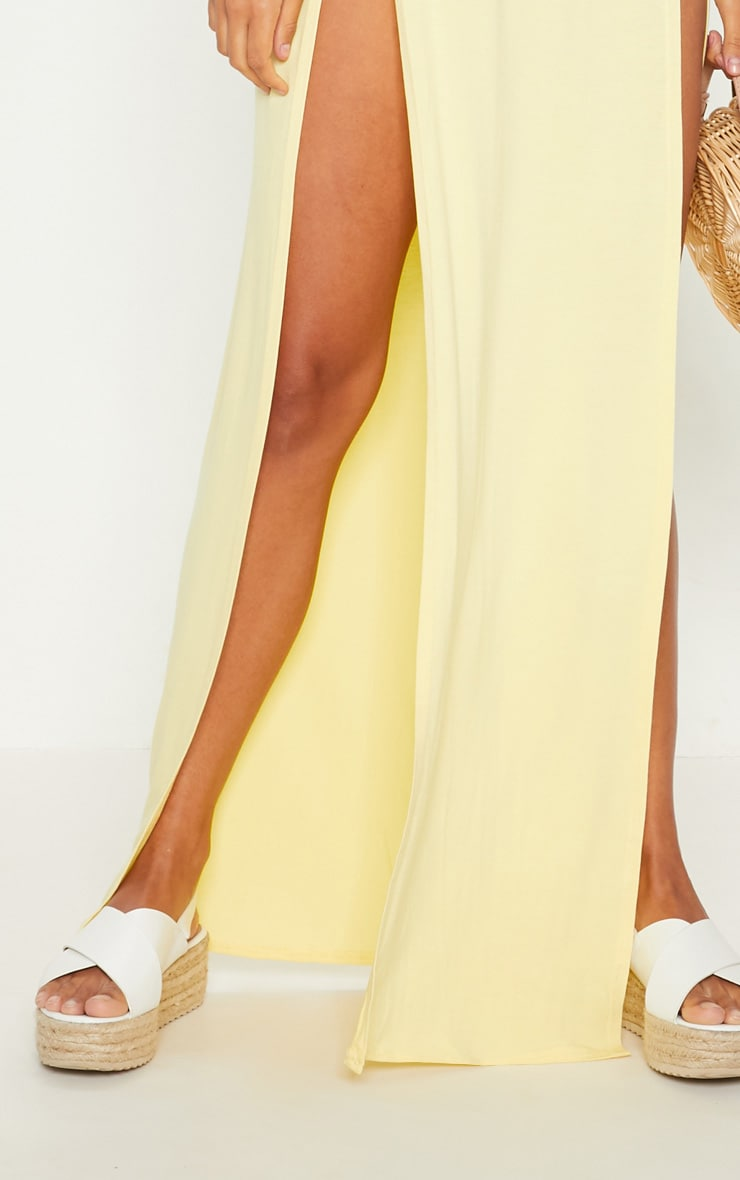 Lemon Double Split Maxi Skirt 5