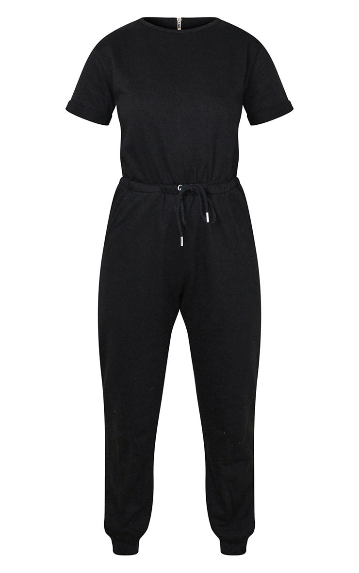 Petite Black Sleeve Sweat Jumpsuit 5