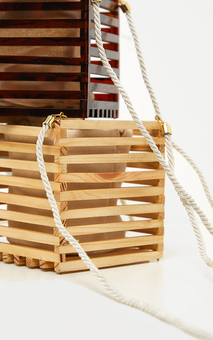 Natural Wood Cube Bag 5