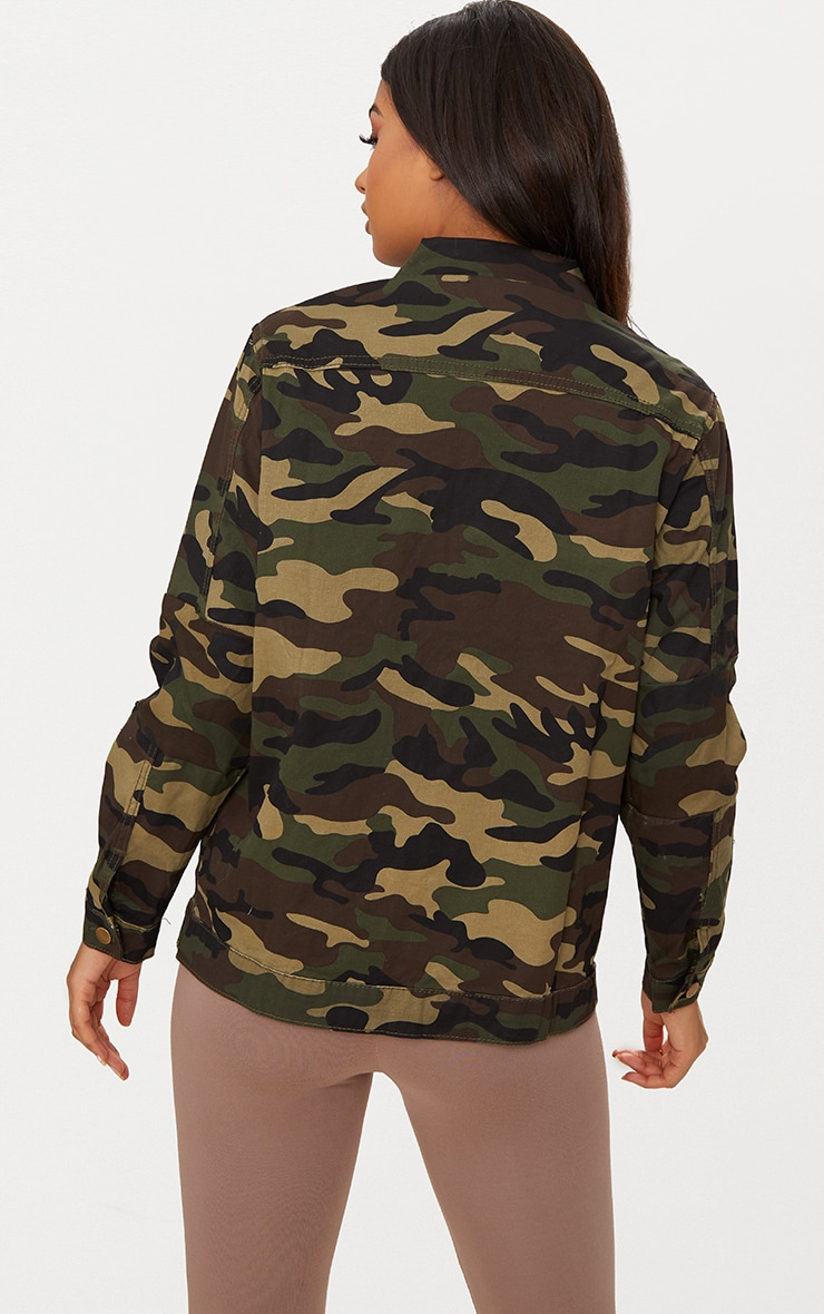 Camouflage Oversized Denim Jacket 2