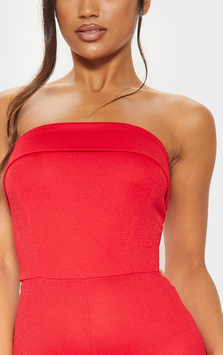 Combinaison rouge style bandeau à revers 5