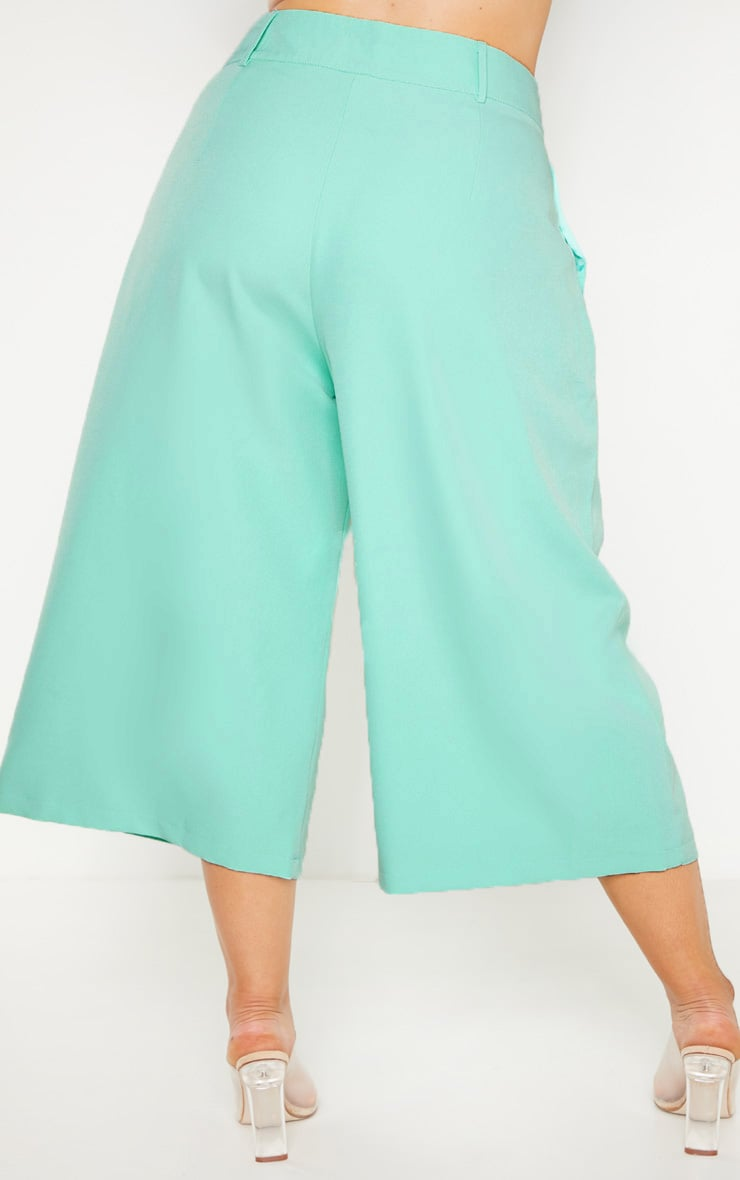 Plus Mint High Waist Culottes 4