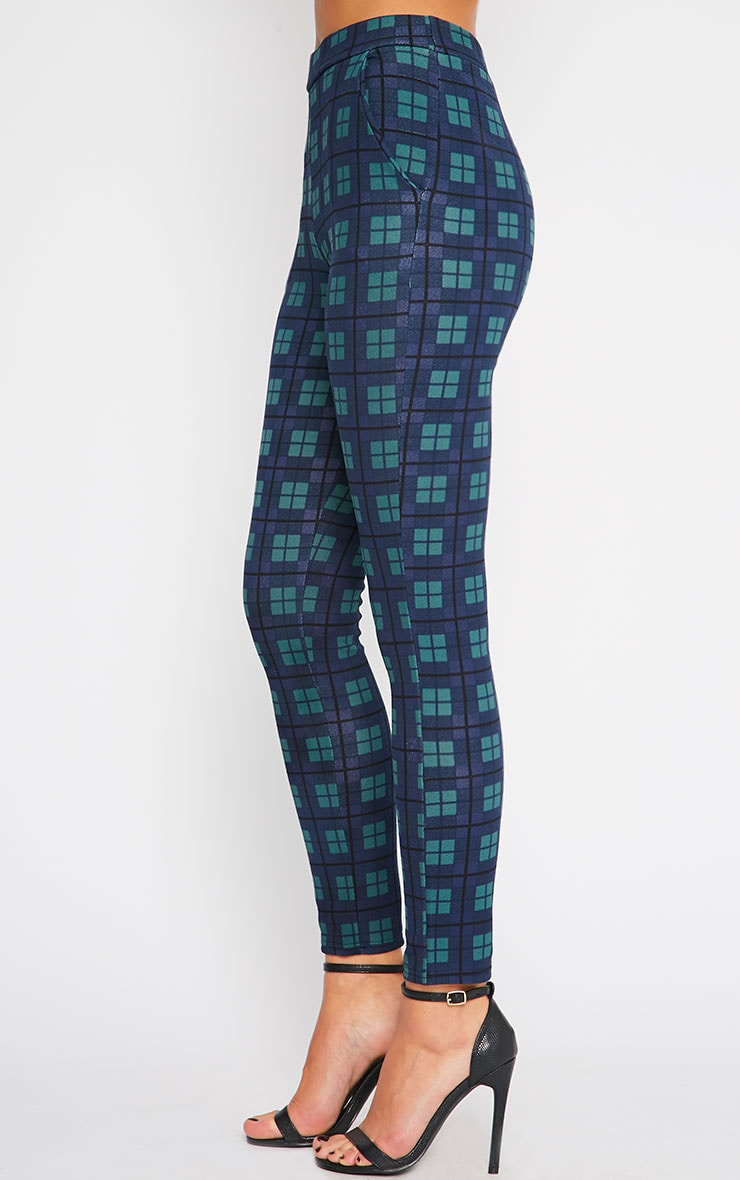 Jehanne Green Checked Trouser  3
